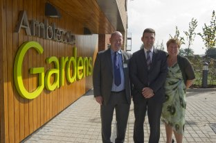 City West's Chief Executive Tim Doyle (right) and Deputy Chief Executive Colette McKune (left) with Shadow Health Secretary and Leigh MP Andy Burnham (centre)