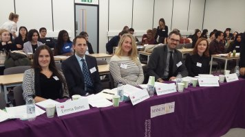David with fellow panelists at the team work challenge day