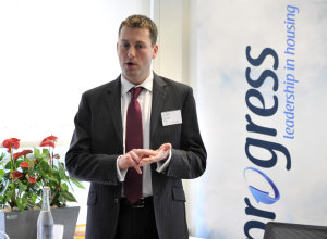 Mobysoft's Managing Director Derek Steele, speaking at a Progress event