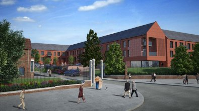 CGI of the Westcliffe extra care facility